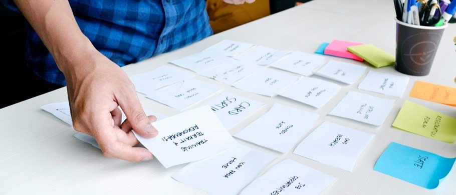 UX Card Sorting und Tree Testing (Symbolfoto phaydon Marktforschung)